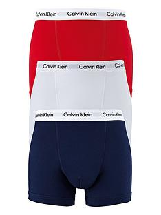 calvin-klein-3-pack-of-trunks-redwhitenavy