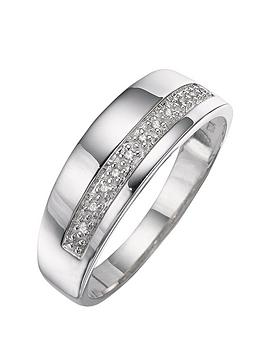 the-love-silver-collection-silver-and-diamond-band-ring