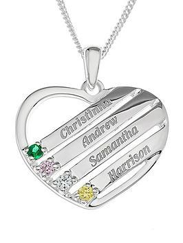 sterling-silver-personalised-gem-set-heart-pendant