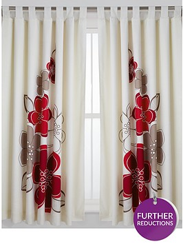 candice-lined-tab-top-curtains-ivoryred