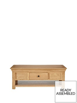 Luxe Collection Constance Oak Ready Embled Coffee Table Littlewoods
