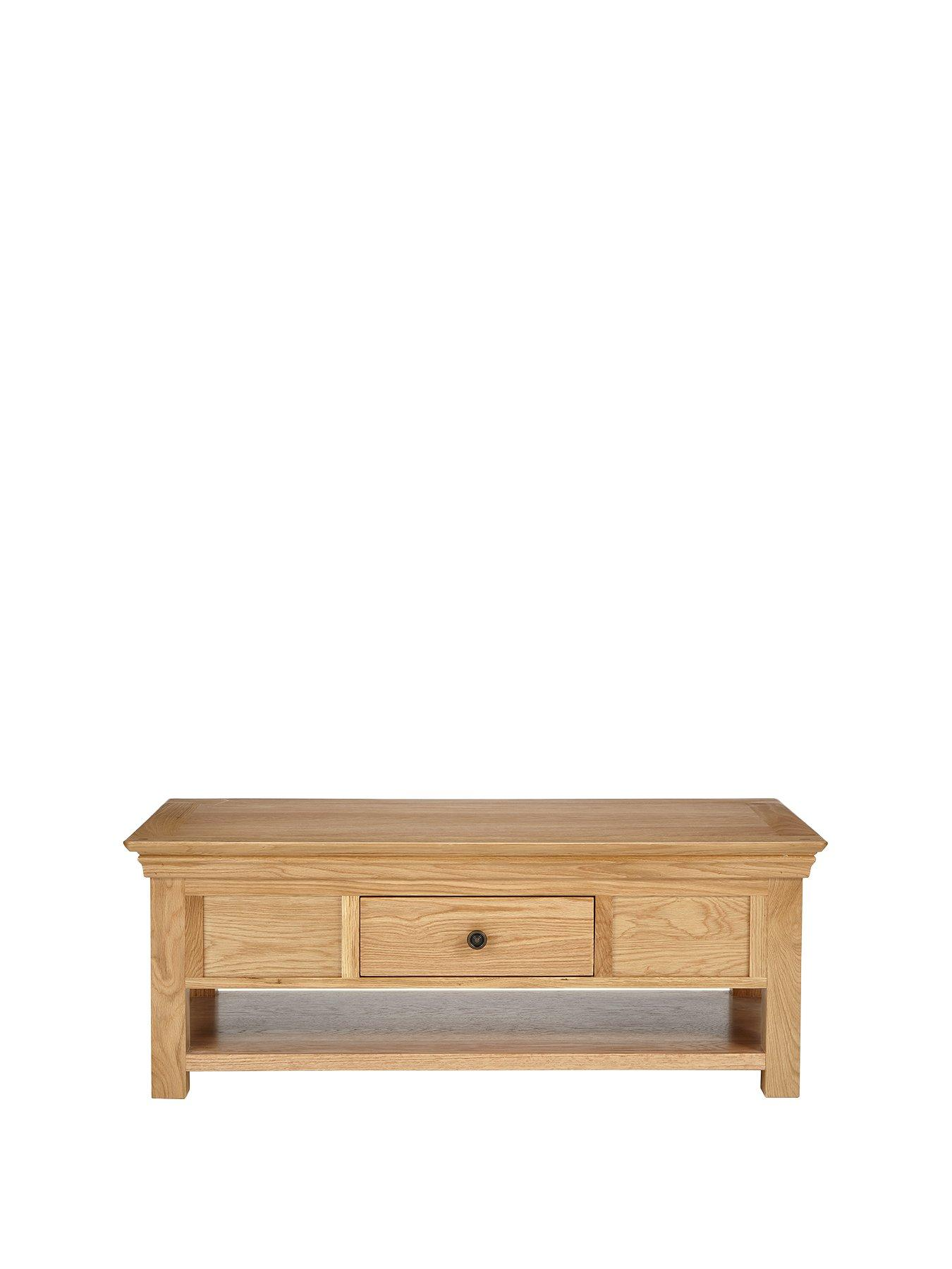 Luxe Collection Luxe Collection   Constance Oak Ready Assembled Coffee Table  | Littlewoods.com