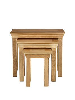 Luxe Collection Luxe Collection - Constance Oak Nest Of 3 Tables Picture