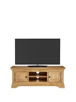Luxe Collection  Constance Oak Ready Assembled Large Tv Unit  Fits Up To 60 Inch Tv