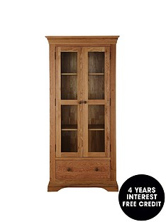 ideal-home-constance-ready-assembled-solid-oak-display-cabinet