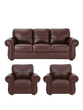 Cassina Italian Leather 3Seater Sofa Plus 2 Armchairs (Buy And Save!)