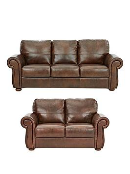 Very Cassina Italian Leather 3 Seater + 2 Seater Sofa Set (Buy And Save!) Picture