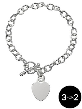 the-love-silver-collection-sterling-silver-heart-bracelet
