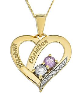 personalised-9-carat-yellow-gold-stone-set-heart-pendant