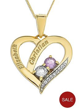 personalised-9-carat-yellow-gold-stone-set-heart-pendant