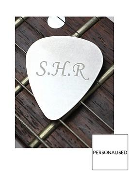 personalised-silver-guitar-plectrum