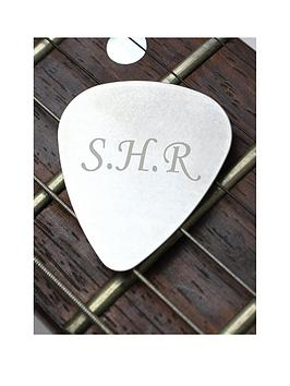 Very Personalised Silver Guitar Plectrum Picture