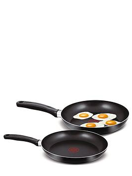 Tefal 2Piece Frying Pan Set  Black