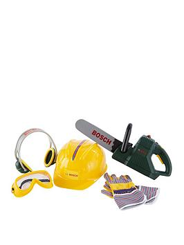 bosch-mini-toy-chainsaw-helmet-and-work-gloves