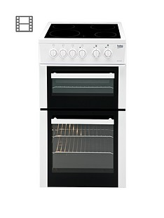 beko-bdvc563aw-50cm-double-oven-electric-cooker-white