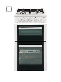 beko-bdg582w-50cm-twin-cavity-gas-cooker-white