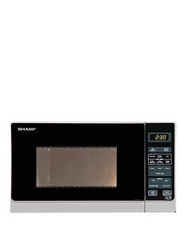 sharp-r272slm-20l-800w-solo-microwave-silver