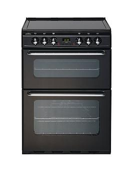 New World Ec600Dom 60Cm Double Oven Electric Cooker  Black  Cooker