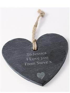 personalised-slate-heart-hanging-decoration