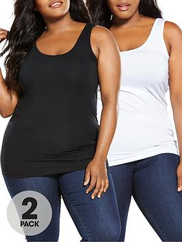 V by Very Curve V By Very Curve Longline Vests (2 Pack) Picture
