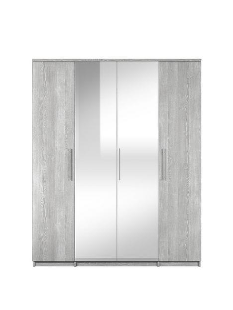 home-essentials--nbspprague-4-door-mirrored-wardrobe
