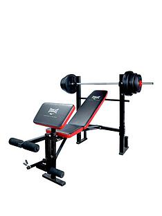 everlast-weight-bench-with-36kg-vinyl-barbell-set