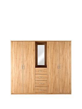 Very Peru 4-Door, 4-Drawer Combi Fitment Wardrobe Picture