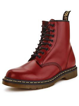 Dr Martens 8 Eyelet Mens Boots  Cherry