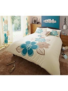 Candice Duvet Cover & Pillowcase Set  Teal (Twin Pack)