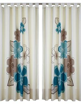 Candice Tab Top Curtains  Teal
