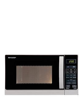 sharp-r662lm-800-watt-microwave-with-grill-silver
