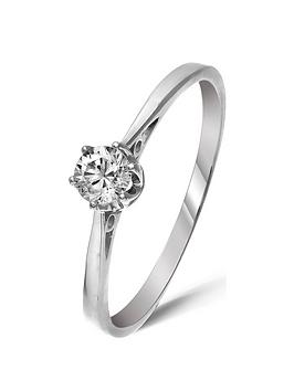 Love DIAMOND Love Diamond 9 Carat White Gold 25Pt Certified Solitaire Ring Picture