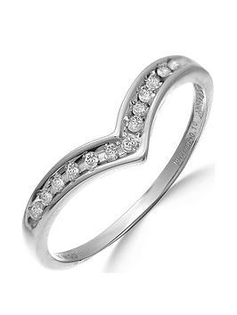 Love Diamond 9 Carat White Gold 10Pt Diamond-Set Eternity Ring
