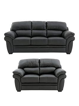 Very Portland 3 Seater + 2 Seater Leather Sofa (Buy And Save!) Picture