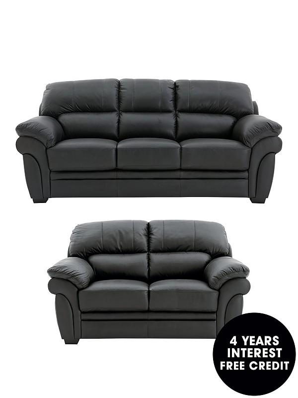 3 Seater 2 Leather Sofa
