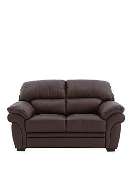 Very Portland 2 Seater Leather Sofa Picture
