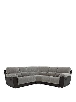 Very Sienna Fabric/Faux Leather Recliner Corner Group Sofa Picture
