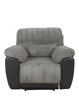 Very Sienna Fabric/Faux Leather Recliner Armchair Picture