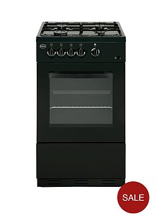 swan-sx1031b-50cm-single-oven-gas-cooker-black