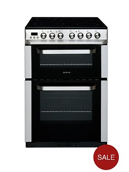 servis-dc60ss-60cm-double-oven-electric-cooker-stainless-steel