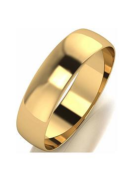 love-gold-9ctnbspyellow-gold-d-shape-5mm-wedding-band