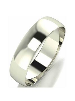 Love GOLD Love Gold 9 Carat White Gold D Shape Wedding Band 5 Mm Picture