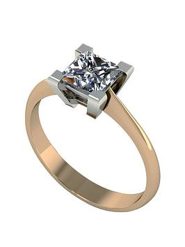moissanite-9-carat-yellow-gold-105-carat-princess-cut-ring