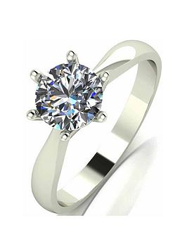 Moissanite Moissanite 9 Carat White Gold 1 Carat Solitaire Ring Picture