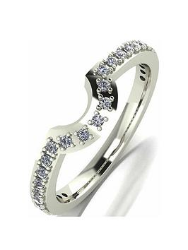 Moissanite Moissanite 9 Carat White Gold 25 Point Wedding Band Picture