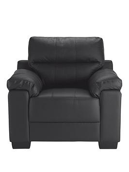 Very Saskia Leather/Faux Leather Armchair Picture