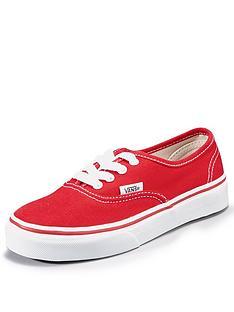 vans-authentic-junior-plimsolls-red