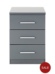 prague-gloss-3-drawer-bedside-chest