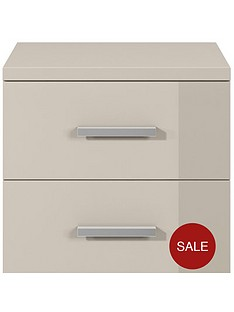 prague-gloss-3-drawer-bedside-chest