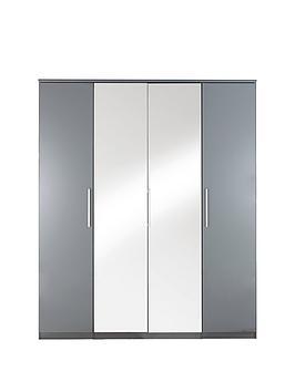 prague-gloss-4-door-mirrored-wardrobe